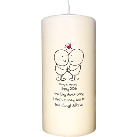 Personalised Chilli & Bubble's Anniversary Candle