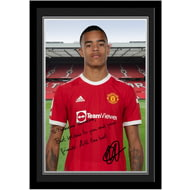 Personalised Manchester United FC Greenwood Autograph Photo Framed