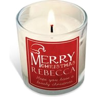 Personalised Merry Christmas Rose Scented Candle
