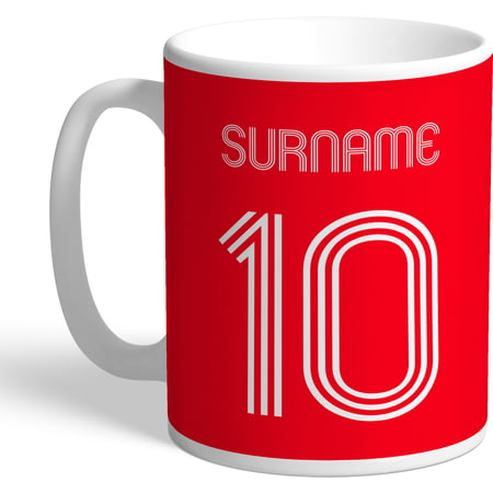 Personalised Nottingham Forest FC Retro Shirt Mug