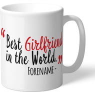 Personalised Sheffield United Best Girlfriend In The World Mug