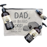 Personalised Your Beard Rocks Beard Gooming Kit Gift Set