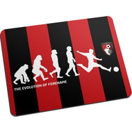 Personalised AFC Bournemouth Evolution Mouse Mat