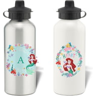 Personalised Disney Princess Ariel Initial Aluminium Water Bottle