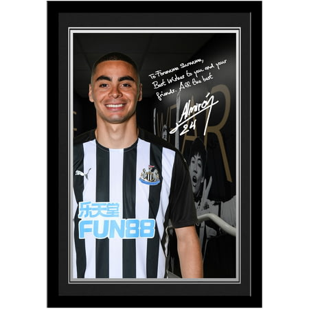 Personalised Newcastle United FC Almiron Autograph Photo Framed