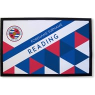 Personalised Reading FC Patterned Rubber Backed Door Mat