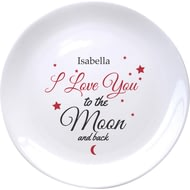 Personalised To The Moon & Back Ceramic Plate