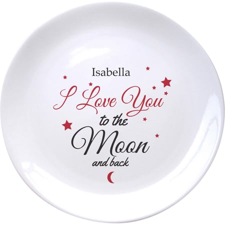 Personalised To The Moon & Back Plate