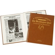 Personalised Washington Redskins American NFL Football Newspaper Book