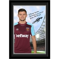 Personalised West Ham United FC Cresswell Autograph Photo Framed