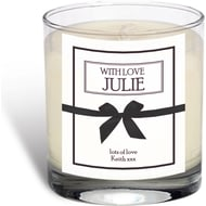 Personalised With Love Rose Scented Candle