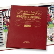 Personalised Aberdeen Football Newspaper Book - A3 Leather Cover