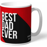 Personalised Manchester United Best Dad Ever Mug