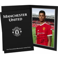Personalised Manchester United FC Rashford Autograph Photo Folder