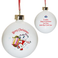 Personalised Merry Christmas Nina Kitten Bauble