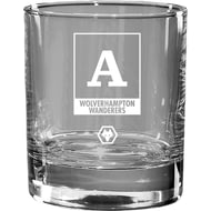 Personalised Wolves Monogram Whisky Glass