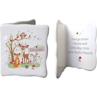 Personalised Woodland Animals Scene Ceramic Ceramic Message Card