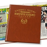 Personalised Fulham Football Newspaper Book - Leatherette Cover
