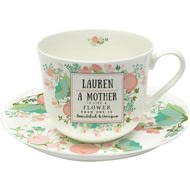 Personalised Beautiful & Unique Tea Cup And Saucer