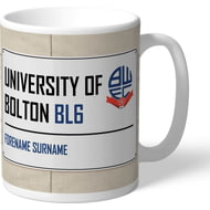 Personalised Bolton Wanderers FC Street Sign Mug