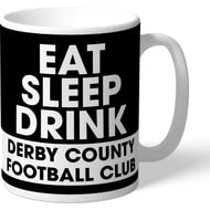 Personalised Derby County Eat Sleep Drink Mug