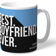 Personalised Manchester City FC Best Boyfriend Ever Mug