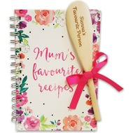 Personalised Mum's Favourite Recipe Book And Spoon