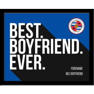 Personalised Reading Best Boyfriend Ever 10x8 Photo Framed