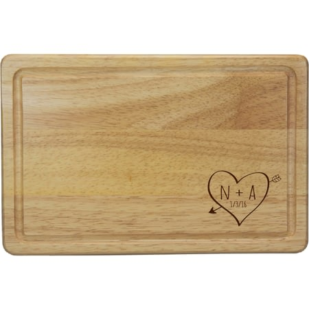Personalised Sketch Heart Rectangular Chopping Board