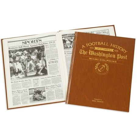 Personalised Miami Dolphins American NFL Football Newspaper Book