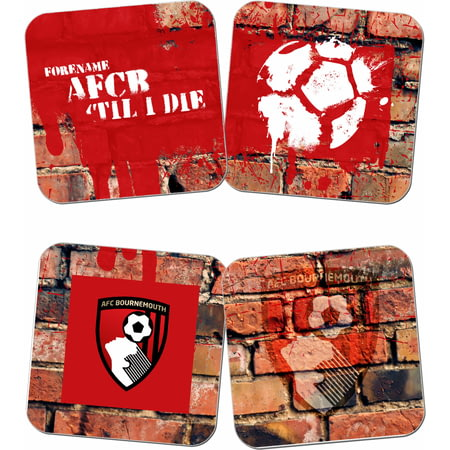 Personalised AFC Bournemouth 'Til I Die Coasters (x4)