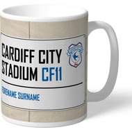 Personalised Cardiff City FC Cardiff City Stadium Street Sign Mug