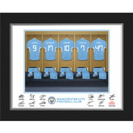 Personalised Manchester City FC Dressing Room Shirts Photo Folder