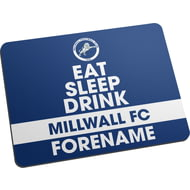 Personalised Millwall FC Eat Sleep Drink Mouse Mat