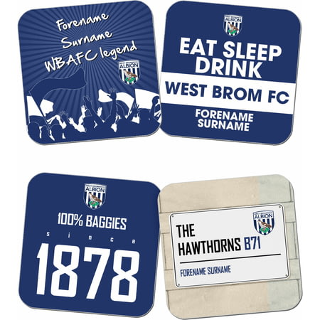Personalised West Bromwich Albion FC Coasters