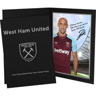 Personalised West Ham United FC Zabaleta Autograph Photo Folder