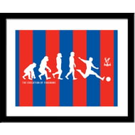 Personalised Crystal Palace FC Evolution Framed Print