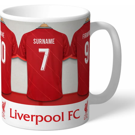 Personalised Liverpool FC Dressing Room Shirts Mug