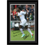 Personalised Swansea City AFC Bony Autograph Photo Framed
