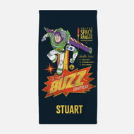 Personalised Toy Story 4 Adult Towel - Buzz Lightyear