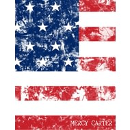 Personalised USA Grunge Flag Notebook