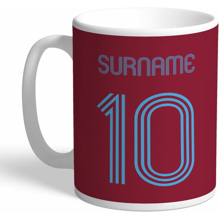 Personalised West Ham United Retro Shirt Mug