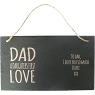 Personalised Daughters First Love Hanging Slate