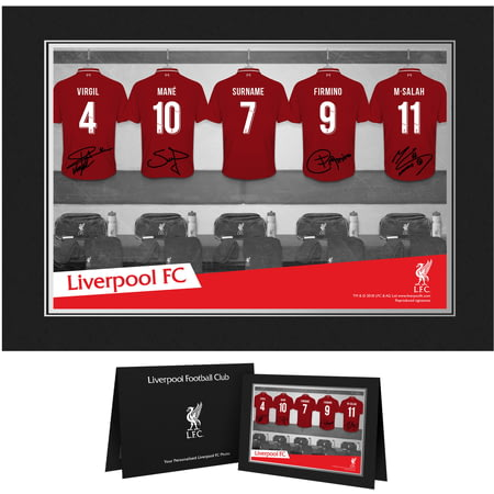 Personalised Liverpool FC 9x6 Dressing Room Shirts Photo Folder