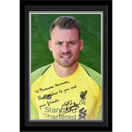Personalised Liverpool FC Mignolet Autograph Photo Framed