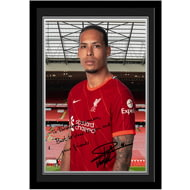 Personalised Liverpool FC Van Dijk Autograph Photo Framed