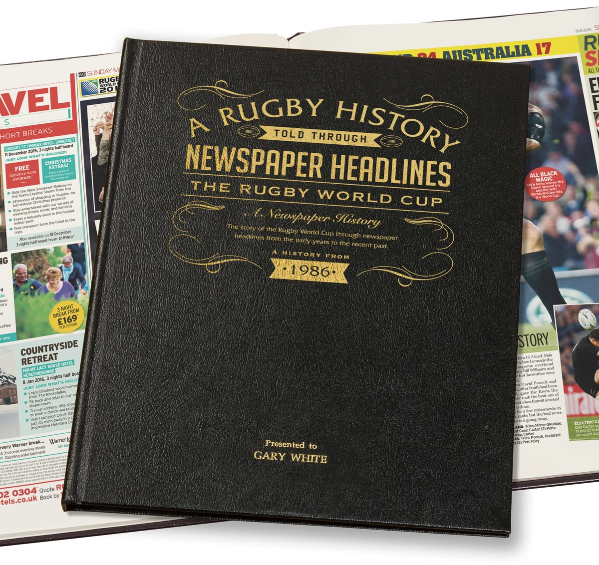 Buy Your Personalised Rugby World Cup Newspaper Book