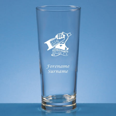 Personalised Scunthorpe United FC Crest Beer Pint Glass