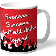 Personalised Sheffield United FC Legend Mug