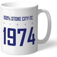 Personalised Stoke City FC 100 Percent Mug